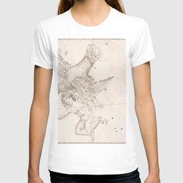 Johann Bayer - Uranometria / Measuring the Heavens (1661) - 16 Aquila T-shirt