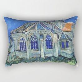The Church at Auvers Vincent Van Gogh Rectangular Pillow