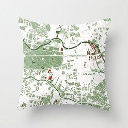 Berlin city map minimal Throw Pillow