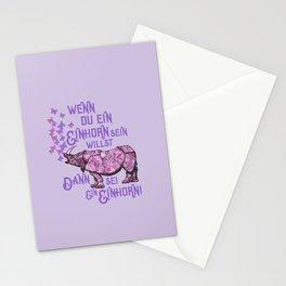 Nashorn Einhorn Motivation Humor Stationery Cards