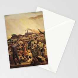 African American Masterpiece 'Mississippi Noah' by John Steuart Curry Stationery Cards