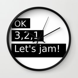 Let's Jam! Wall Clock