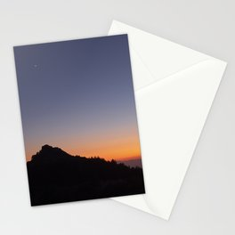 Venus and the Moon. Sierra Nevada at sunset Stationery Cards