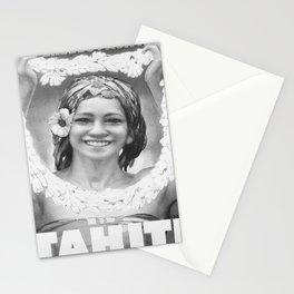 retro monochrome Tahiti Stationery Cards