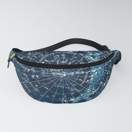 1900 Star Constellation Map - Chart Vintage Poster Fanny Pack