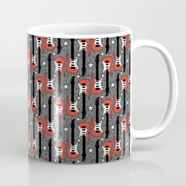 Rock and Roll_ Red and White Guitar Coffee Mug