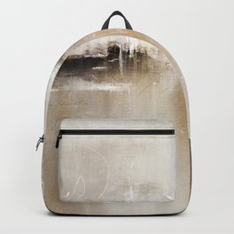 Natural Abstract Painting - Modern Handwritten Contemporary (Most Popular) Backpack