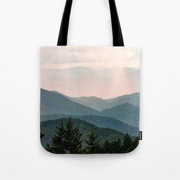 Smoky Mountain Pastel Sunset Tote Bag