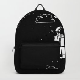 Astronaut Draw with Heart Backpack