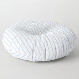 Alice Blue Pinstripe on White Floor Pillow