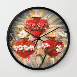 Sacratísimos Corazones III Wall Clock