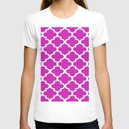 Arabesque Architecture Pattern In Pink T-shirt