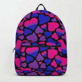 Bisexual Pride Hearts Backpack