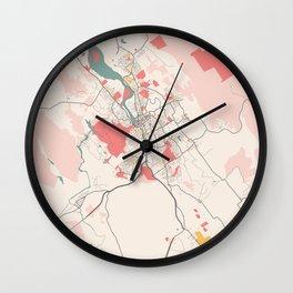 Launceston - Australia Chalk City Map Wall Clock