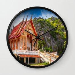 Sam Roi Yot Temple Thailand Wall Clock