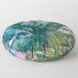 water lilies : Monet Floor Pillow