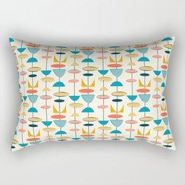 Mid century modern abstract shapes pattern Rectangular Pillow