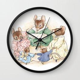 Many Mice Go 'Round Wall Clock