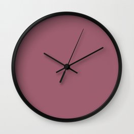 Rose Dust - solid color Wall Clock