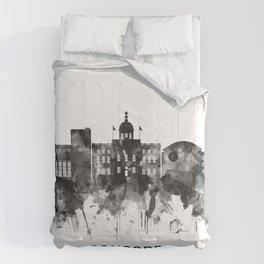 Concord New Hampshire Skyline BW Comforters