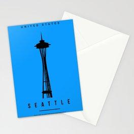 Seattle Minimalist Art Stationery Cards