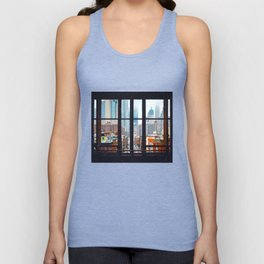 New York City Window Unisex Tanktop