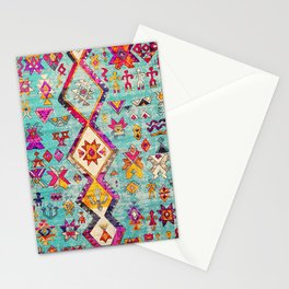 Lovely Colored Heritage Traditional Berber Moroccan Art Style Stationery Cards