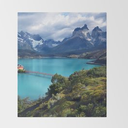 Torres del Paine Throw Blanket