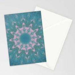 Navajo Turquoise Gemstone Mandala No. 40 Stationery Cards