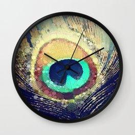 Scott Hannum - Peacock Feather Wall Clock
