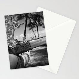 Kuau Palm Trees Hawaiian Outrigger Canoe Paia Maui Hawaii Stationery Cards