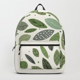 Mid-Century Green Leaves Backpack