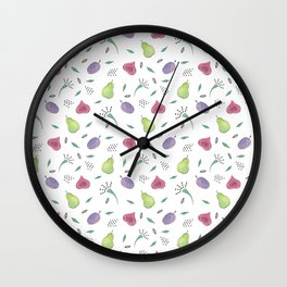 Watercolor Fruit Pattern Wall Clock