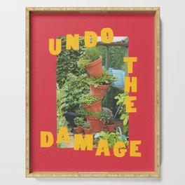 undo the damage Serving Tray