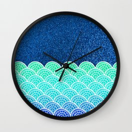 Ocean Waves At Night Wall Clock
