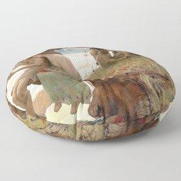 Pastoral - Rupert Charles Wulsten Bunny Floor Pillow