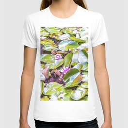 Small pond with floating plants T-shirt
