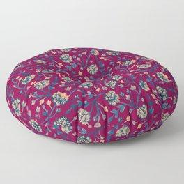 Watercolor Peonies - Ruby Red Floor Pillow