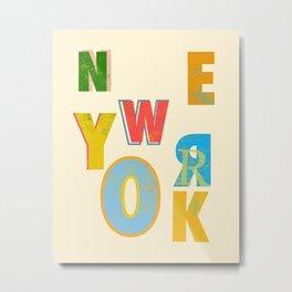 I love you New York Metal Print