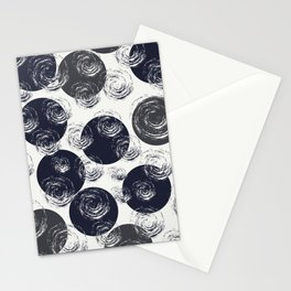 Circular Strokes Patched Pattern III Stationery Cards