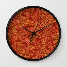 Pasta Primavera (pattern) Wall Clock