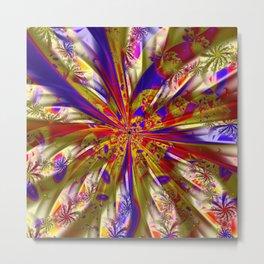 Fabric Floral Metal Print