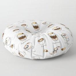 My favorite coffee Floor Pillow