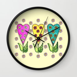 Sweet Hearts Wall Clock