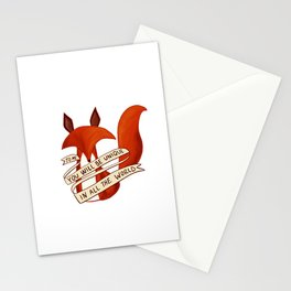 Petit prince Fox Stationery Cards
