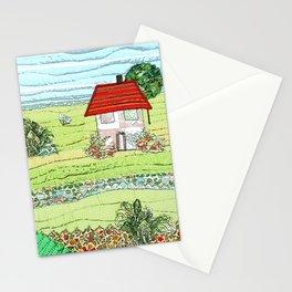 Summertime landscape Stationery Cards