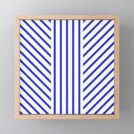 Lined Blue Framed Mini Art Print