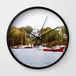Rockport Harbor Maine Wall Clock