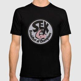 James Hunt Sex Breakfast of Champions Retro F1 T-shirt