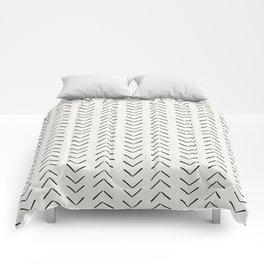 Mud Cloth Big Arrows in Cream Comforters